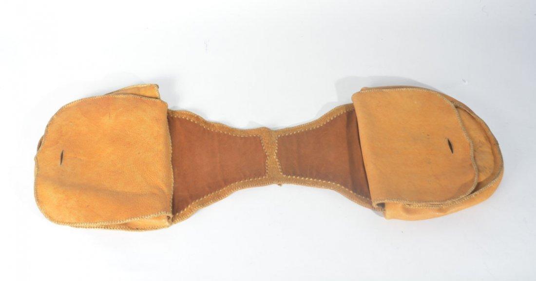 Gold and Brown Saddle Bag