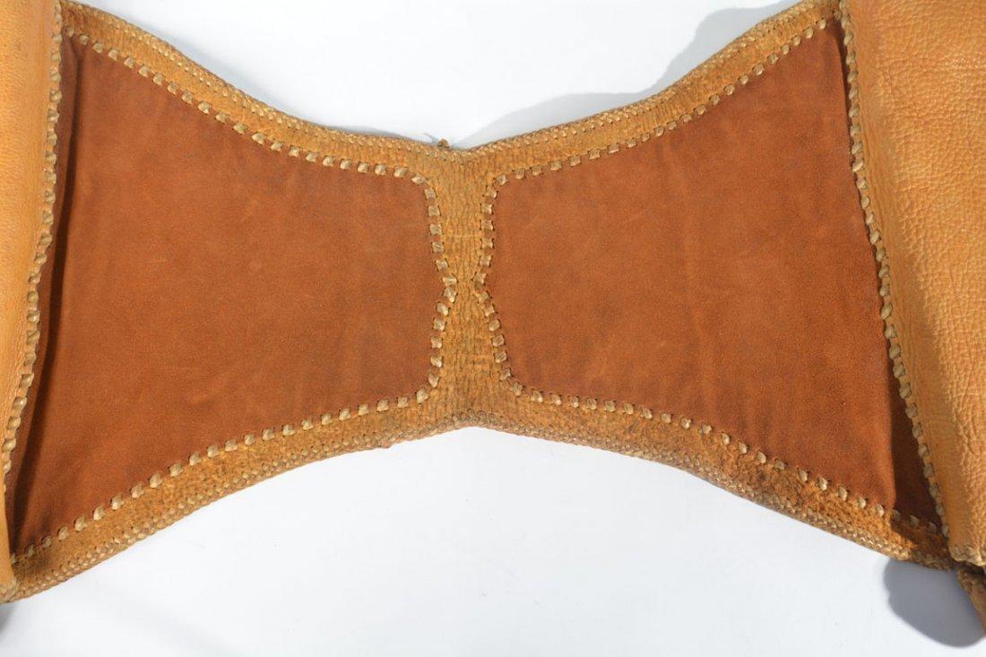 Gold and Brown Saddle Bag - 4