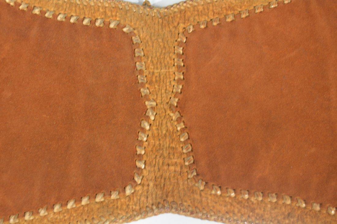 Gold and Brown Saddle Bag - 5