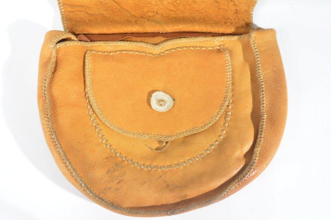 Gold and Brown Saddle Bag - 6