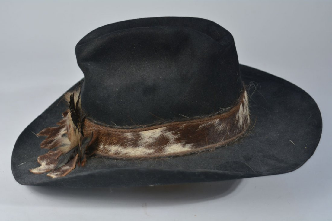 Johnny Winter's Custom Cowhide-Band Cowboy Hat - 2