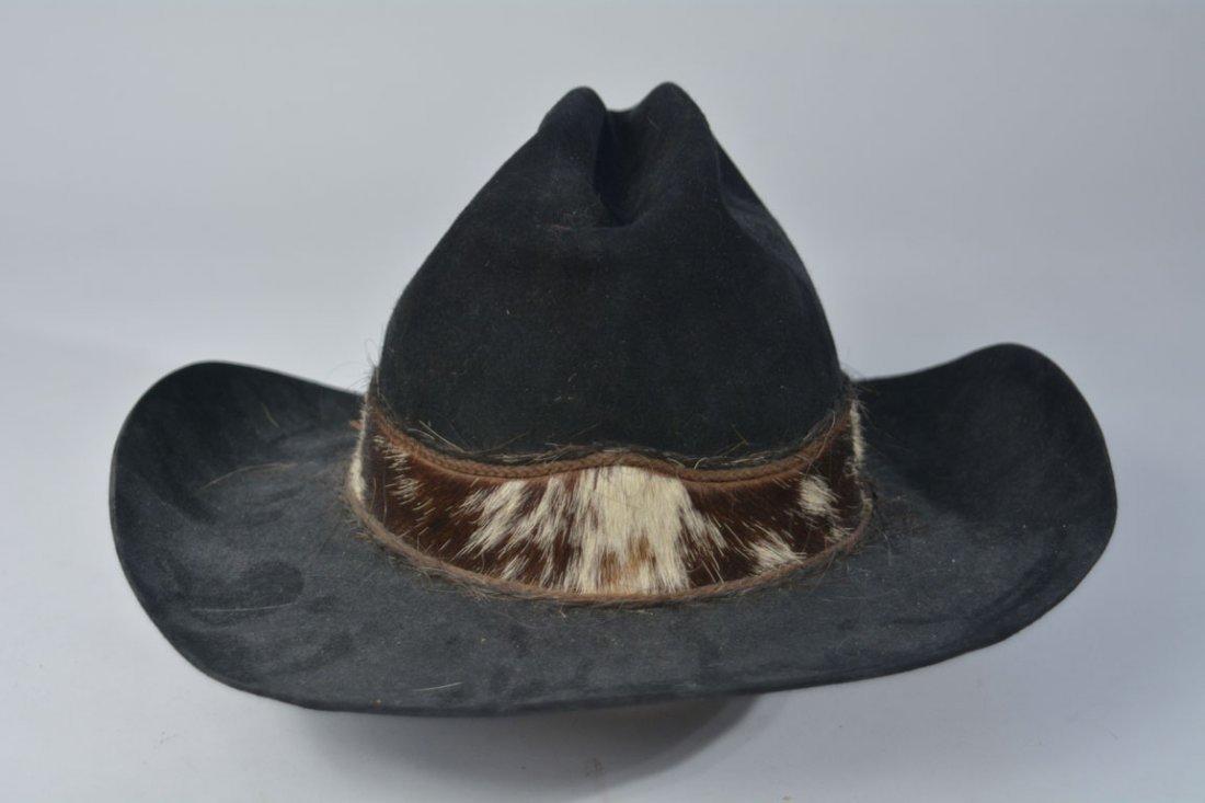 Johnny Winter's Custom Cowhide-Band Cowboy Hat - 3