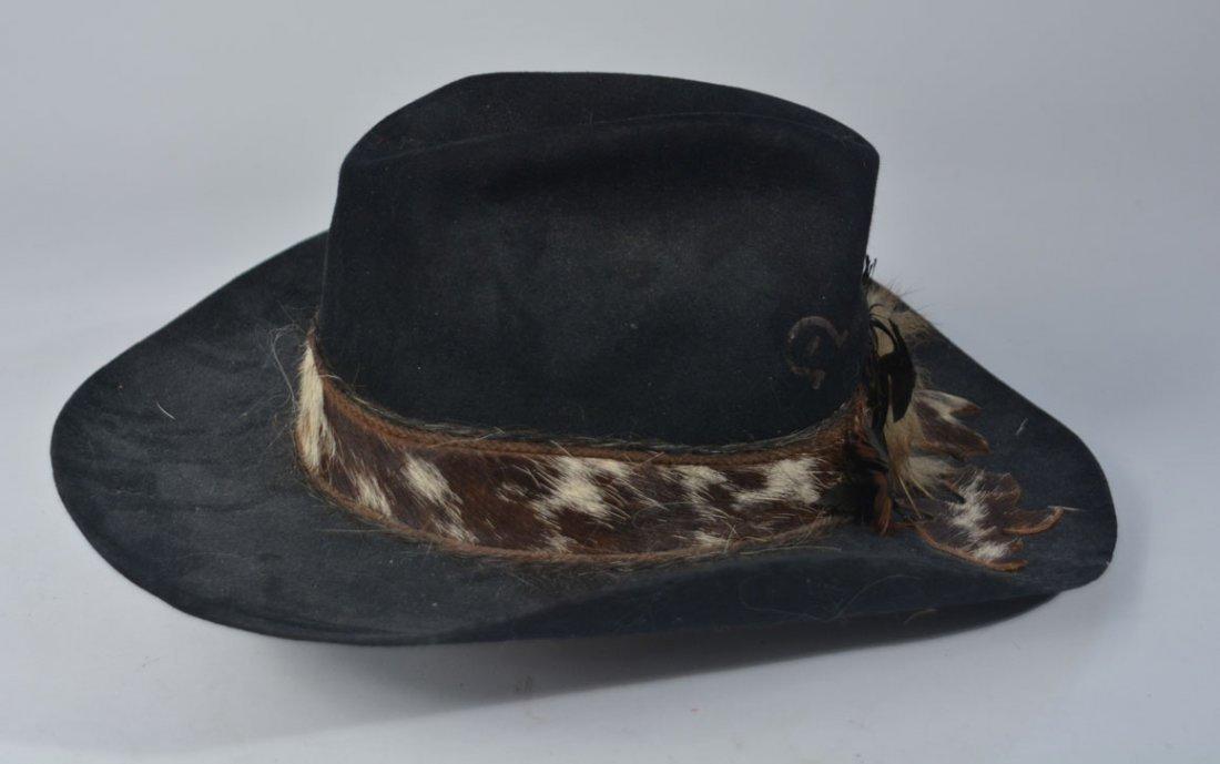 Johnny Winter's Custom Cowhide-Band Cowboy Hat - 4