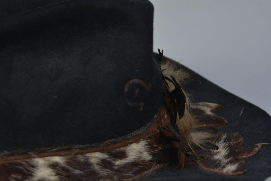 Johnny Winter's Custom Cowhide-Band Cowboy Hat - 5