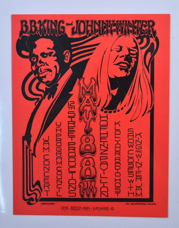 Handbill: B.B. King and Johnny Winter Jam Concert