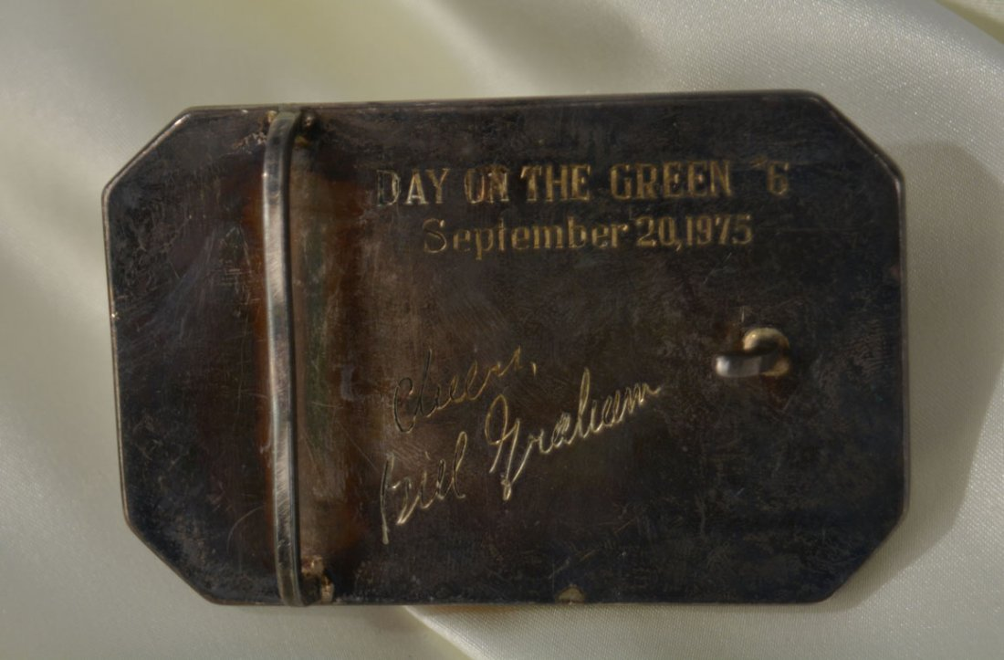 """""""JOHNNY"""" Belt Buckle, A Gift from Bill Graham - 2"""