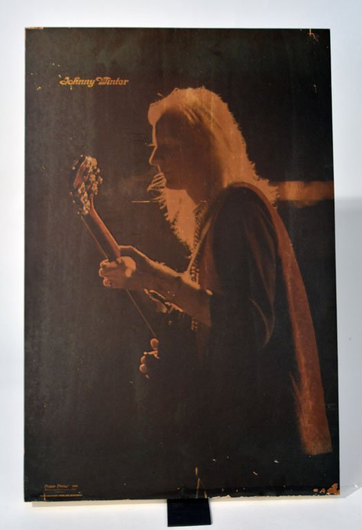 Johnny Winter Wooden Art Block