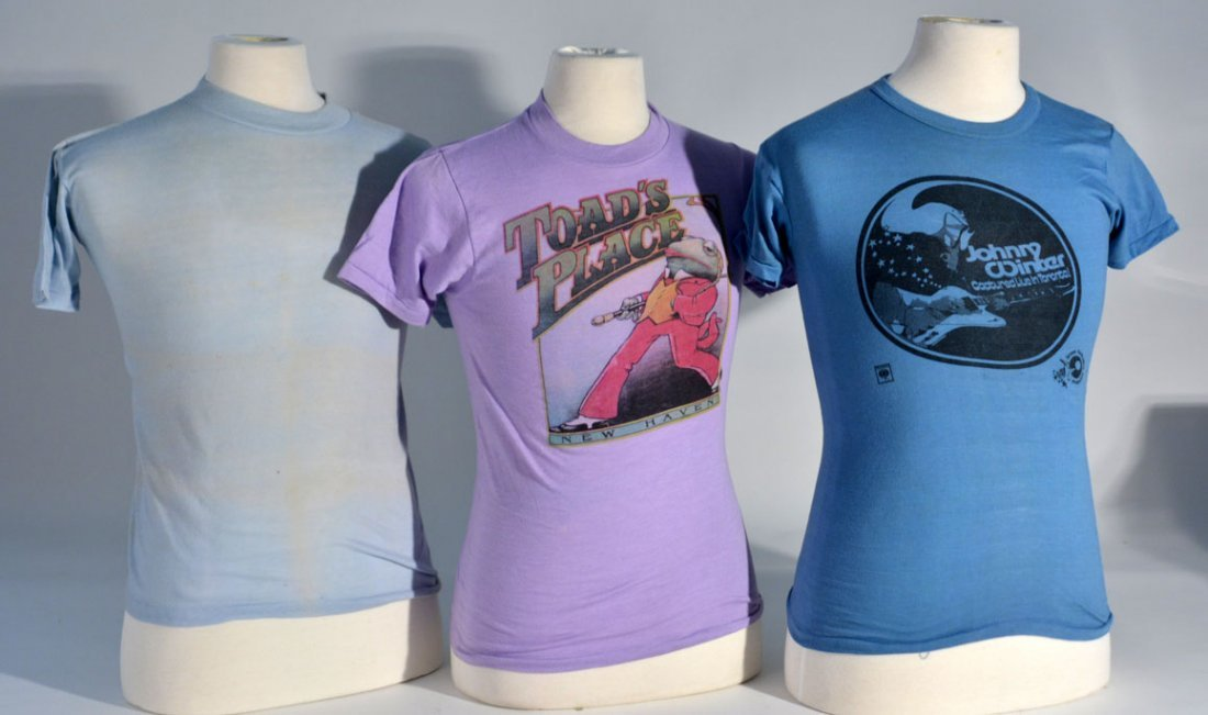 Three of Johnny Winter's T-Shirts