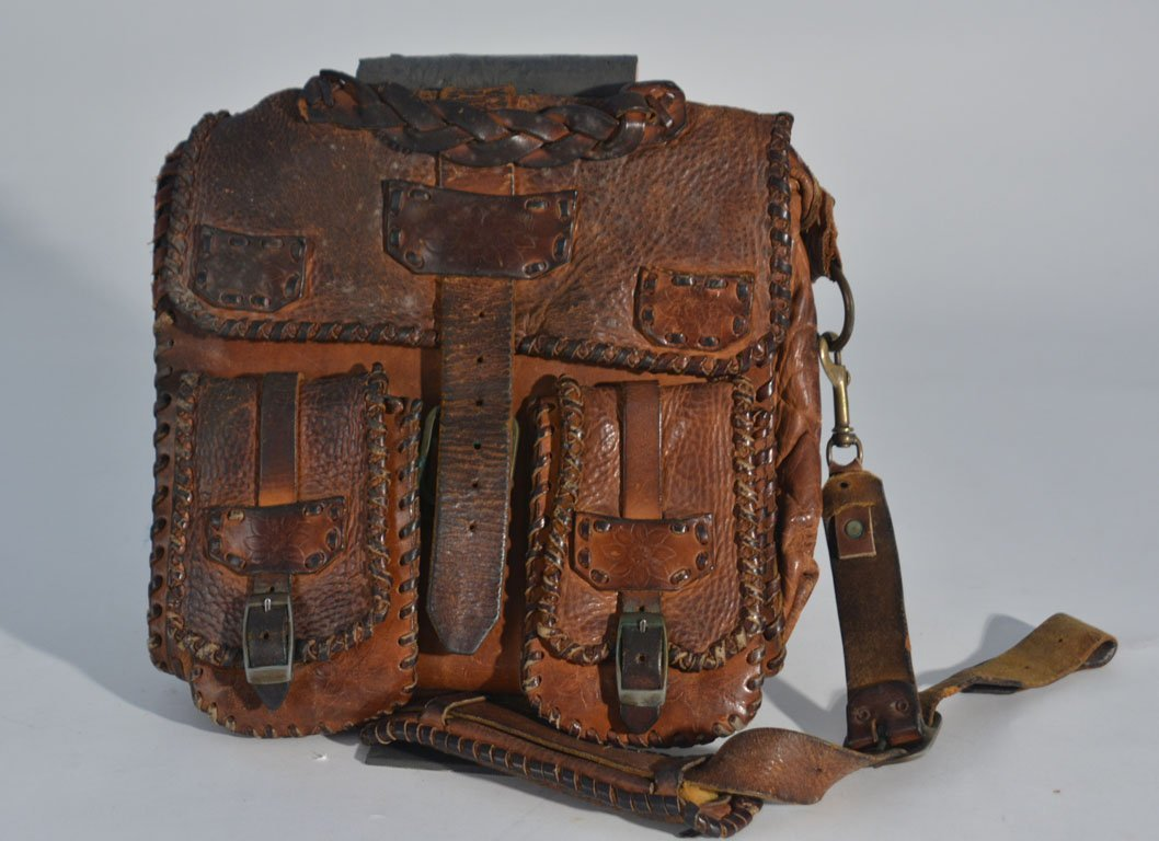 Johnny Winter's Brown Leather Satchel