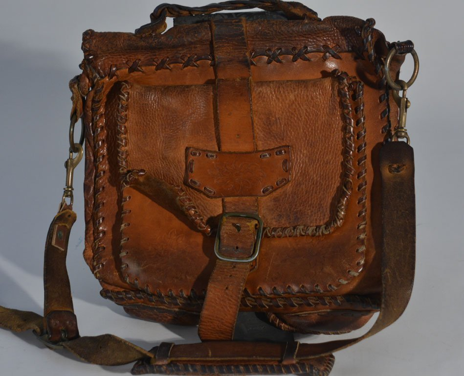 Johnny Winter's Brown Leather Satchel - 2