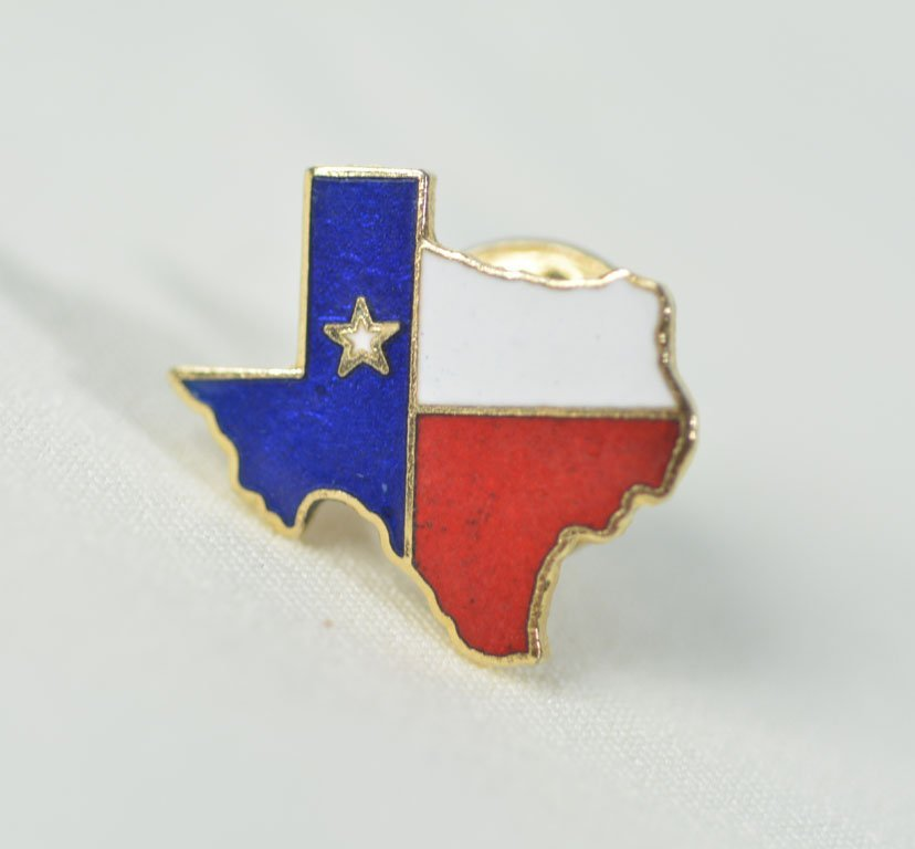 Pair of Johnny Winter's Texas Pins