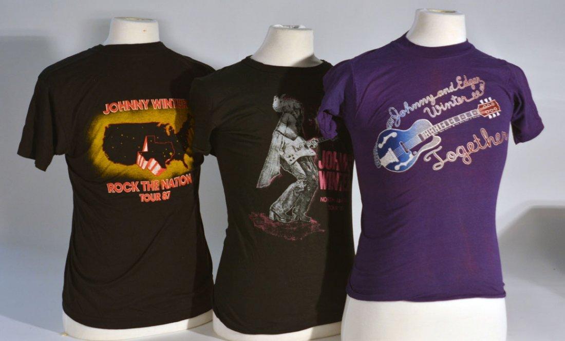 Three of Johnny WInter's T-Shirts