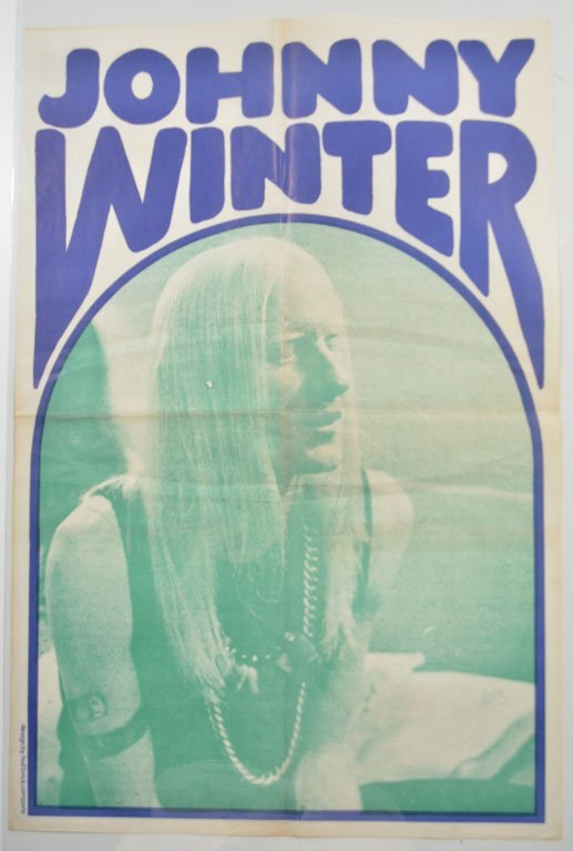 Poster: Johnny Winter in Blue and Green