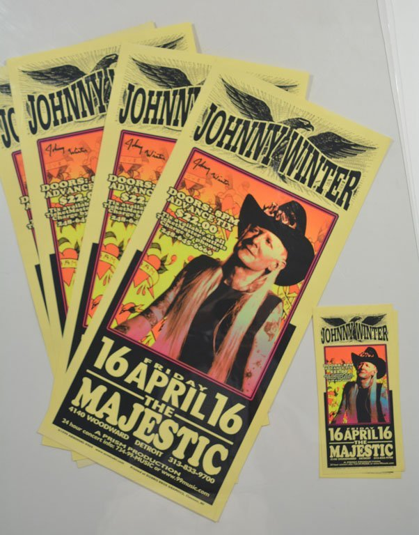 Signed Posters: Johnny Winter at the Majestic