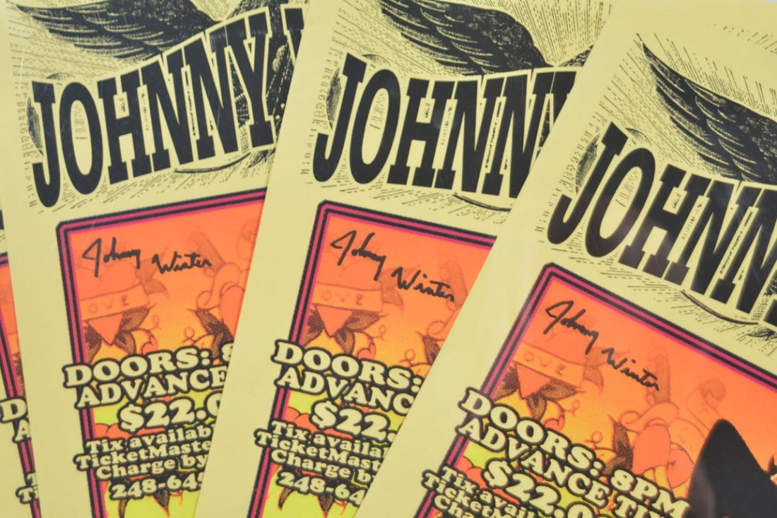 Signed Posters: Johnny Winter at the Majestic - 2