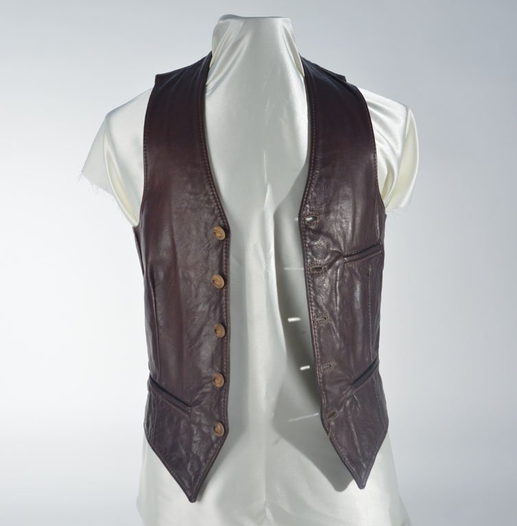 Johnny Winter's Brown Leather Vest