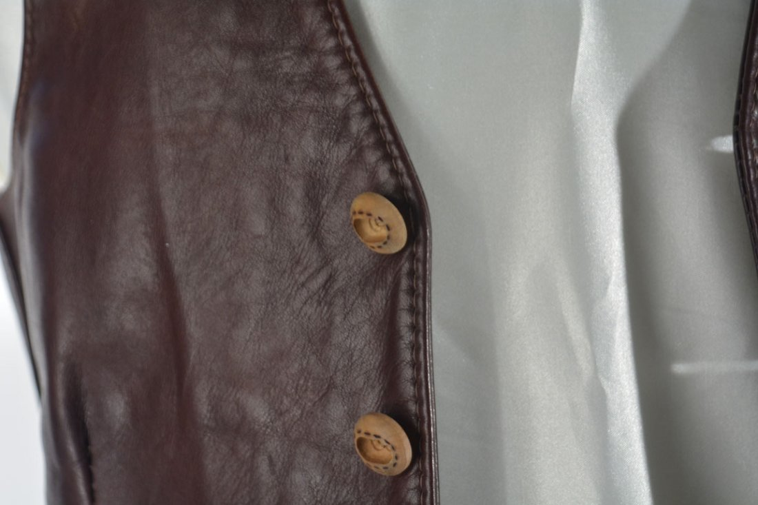 Johnny Winter's Brown Leather Vest - 2