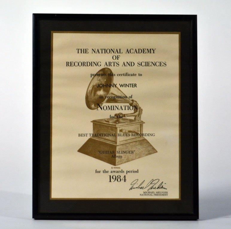 """Grammy Nomination, """"Guitar Slinger"""""""