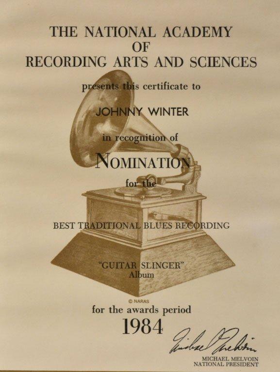 """Grammy Nomination, """"Guitar Slinger"""" - 2"""