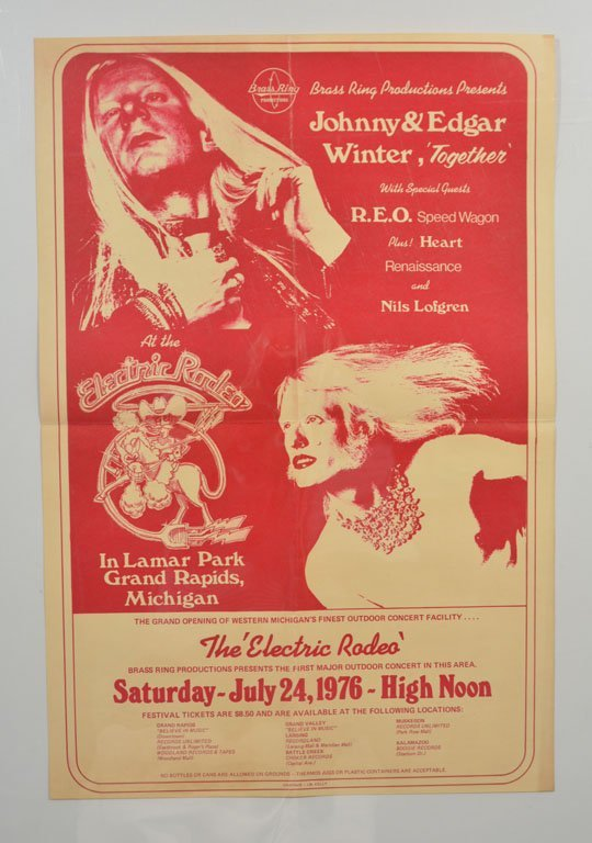 Poster: Johnny and Edgar Winter, Together