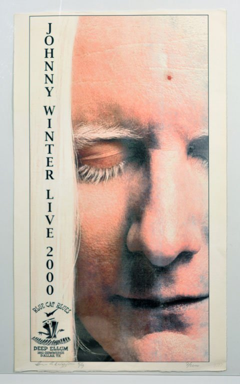 "Limited Edition Poster: ""Johnny Winter Live 2000"""