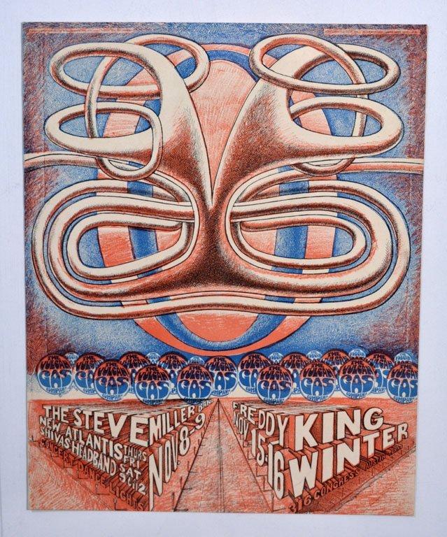 Handbill: Johnny Winter and Freddie King