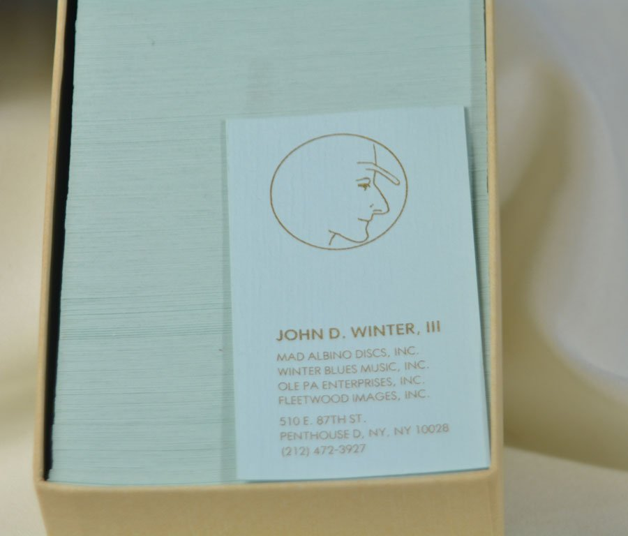 Box of Johnny's Business Cards - 2