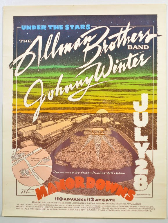 Poster: Johnny Winter and the Allman Brothers Band
