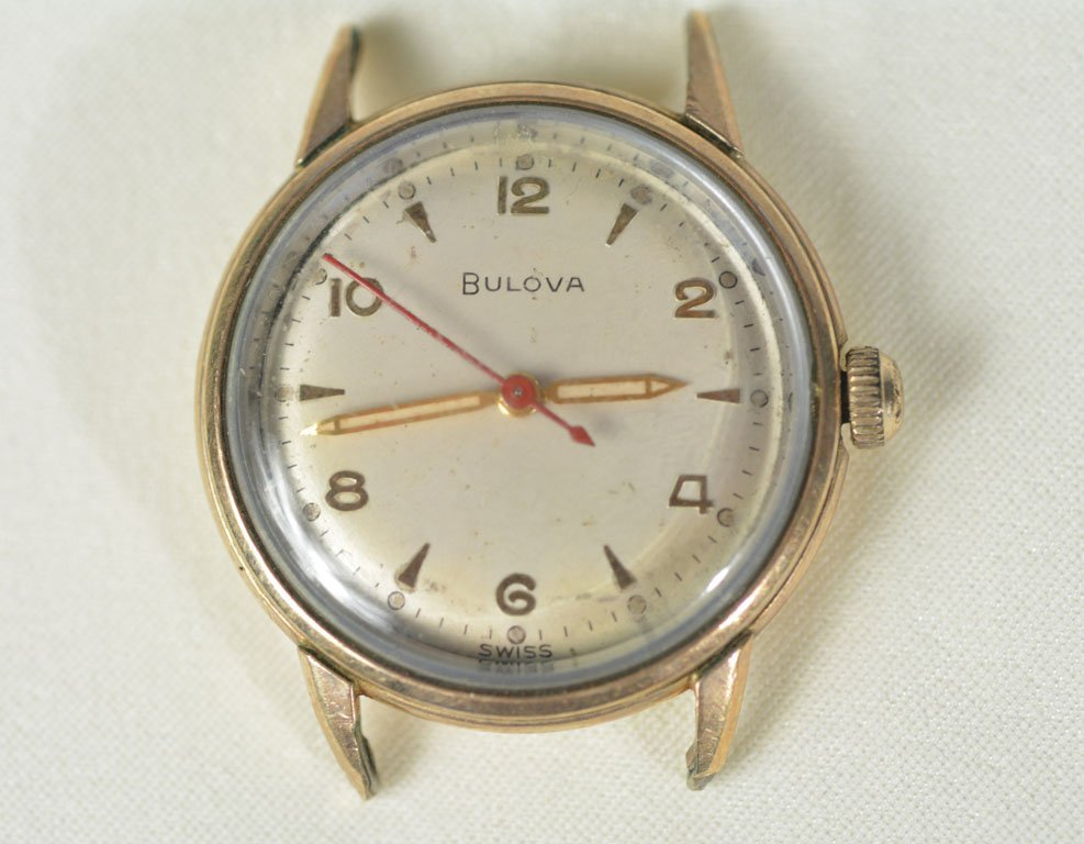 Gold Bulova Watch Face, No Strap