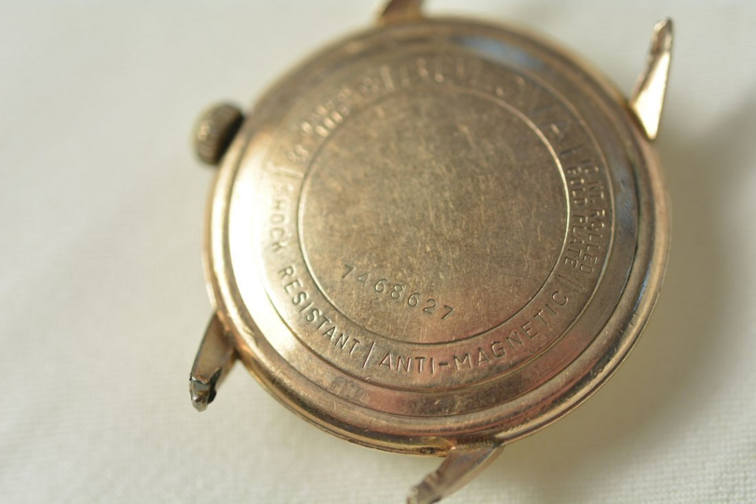 Gold Bulova Watch Face, No Strap - 4