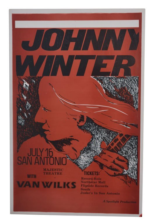 Poster: Johnny Winter with Van Wilks