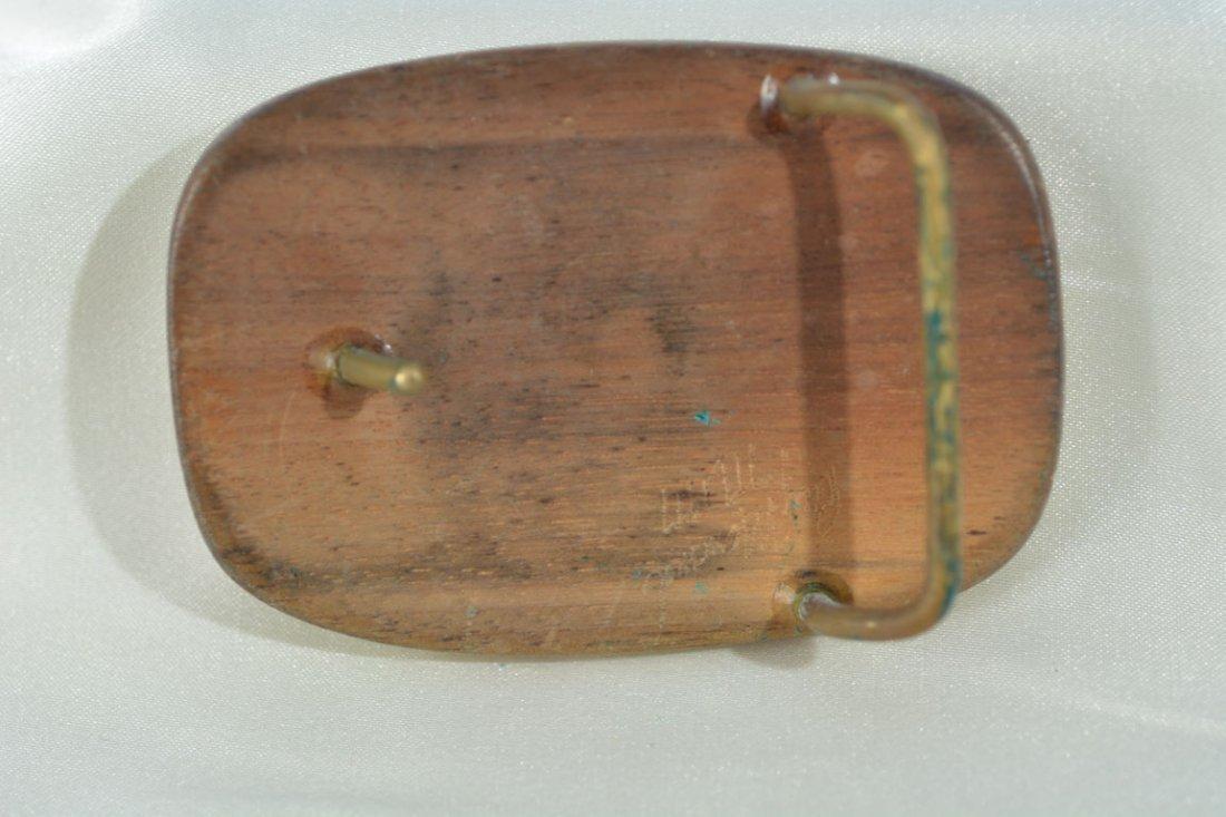 Johnny Winter's Wooden Belt Buckle - 2