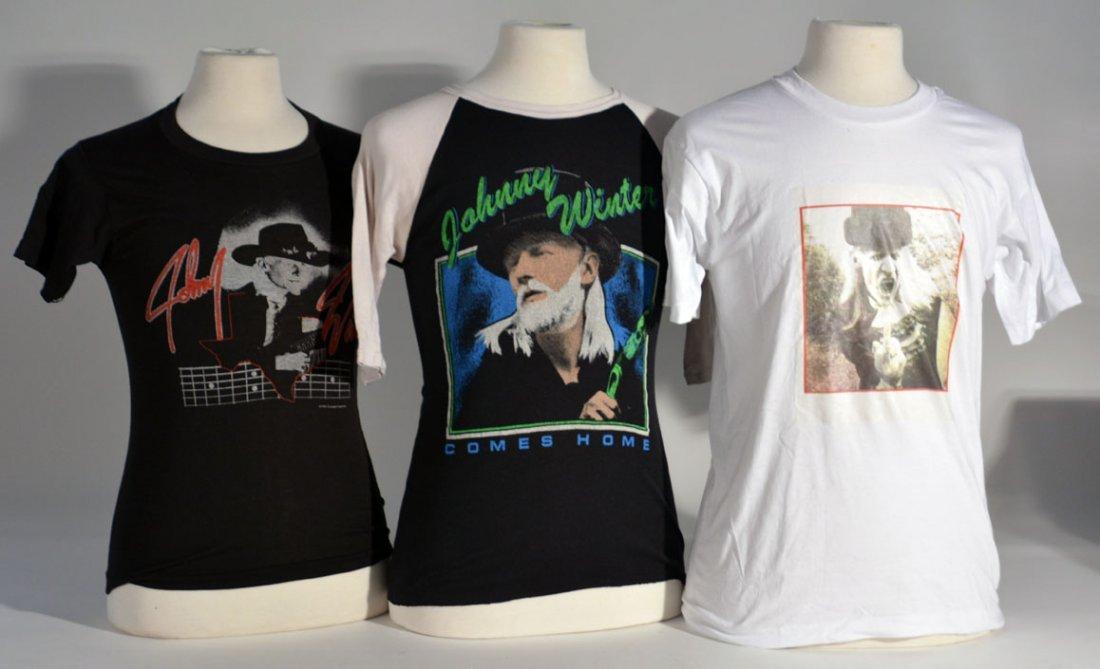 Three of Johnny Winter's Shirts