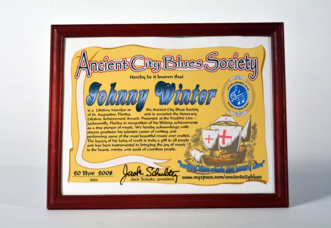 Ancient City Blues Society Lifetime Membership