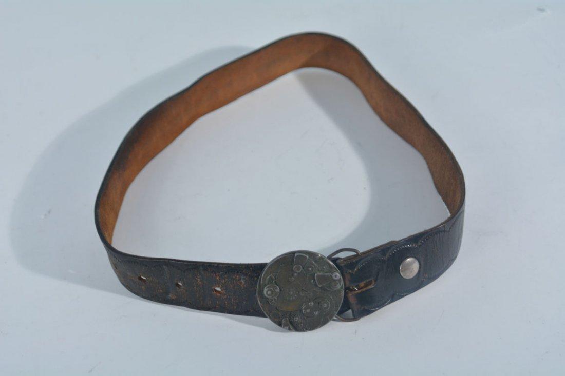 Johnny Winter's Clock Belt Buckle