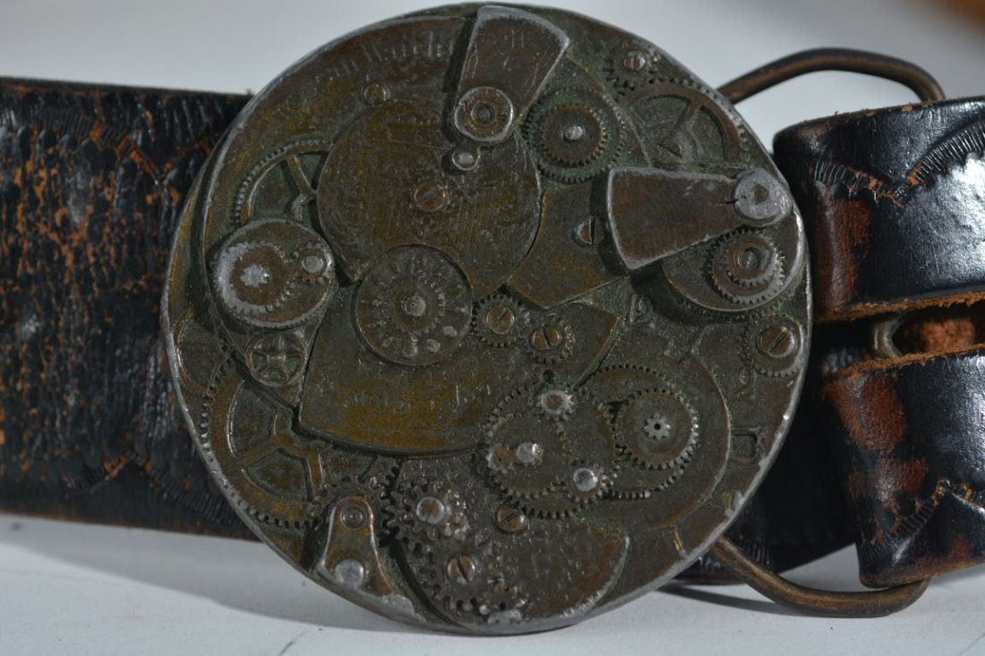 Johnny Winter's Clock Belt Buckle - 3