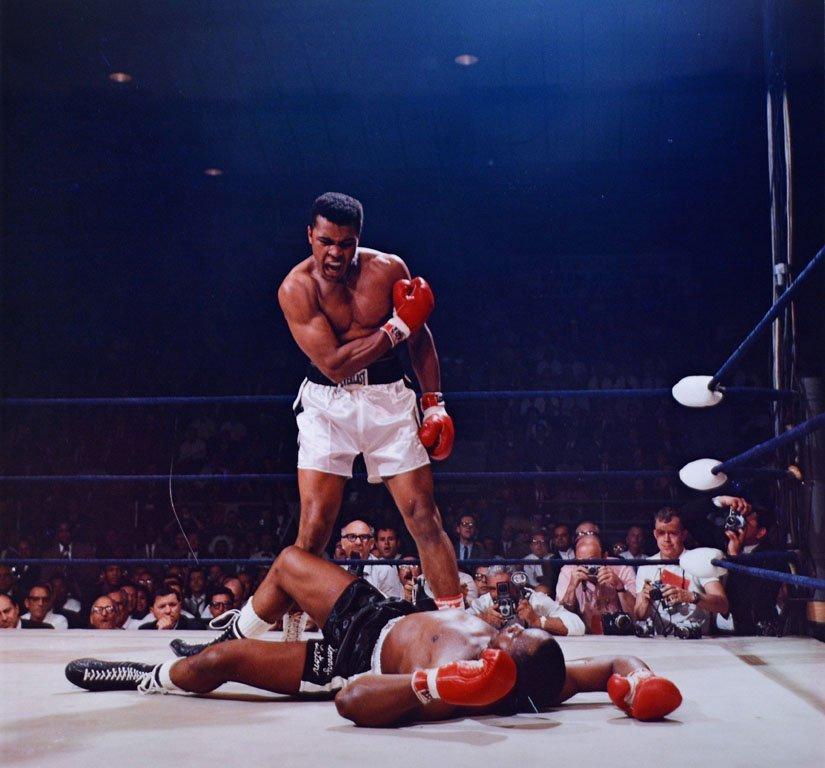 Muhammad Ali Triumphs Over a Fallen Sonny Liston - 3