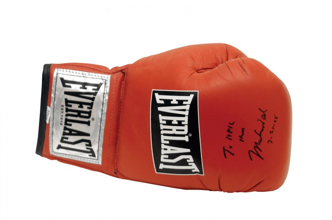 Boxing Glove and Photograph Autographed by Muhammad Ali