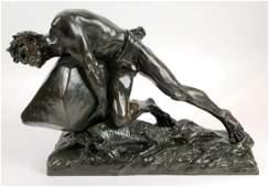 Magnificent 19th C. Edouard Drouot Signed Bronze