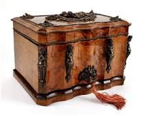 Magnificent 19th C. French Burlwood & Bronze Cigar Box