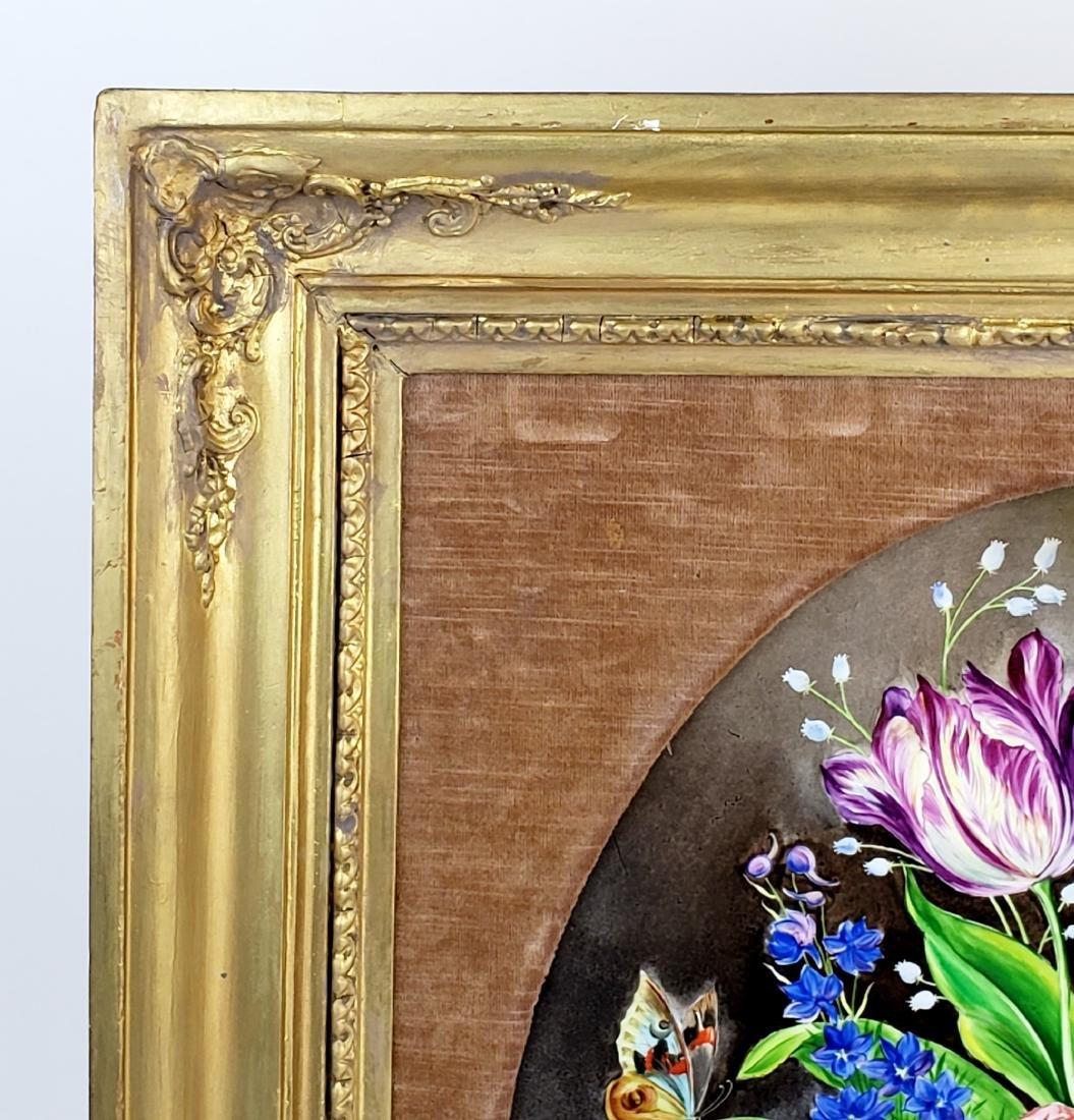 Pair of 19th C. KPM Floral Porcelain Plaques Signed J. - 4