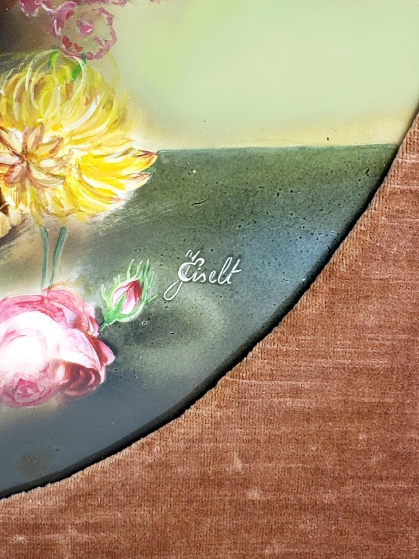 Pair of 19th C. KPM Floral Porcelain Plaques Signed J. - 5