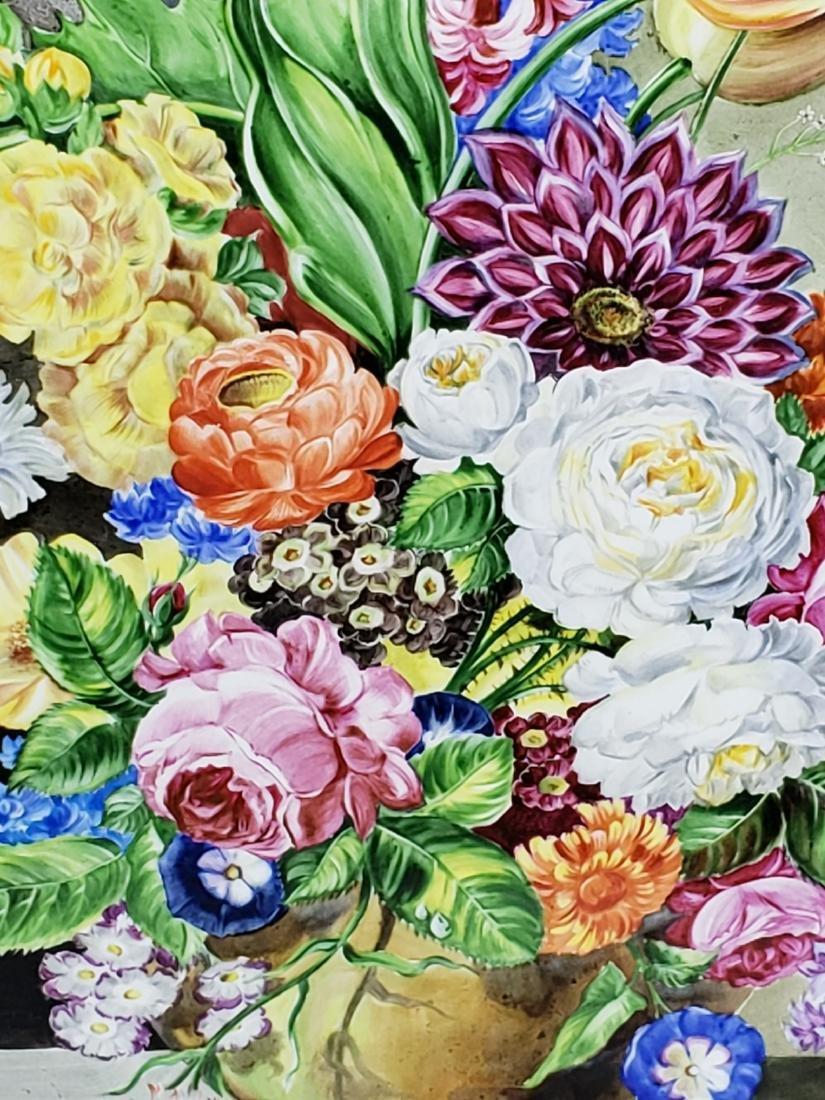 Pair of 19th C. KPM Floral Porcelain Plaques Signed J. - 8