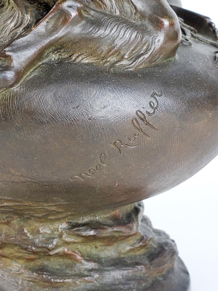 19th C. Figural Bronze Urn Signed Noel Ruffier - 6