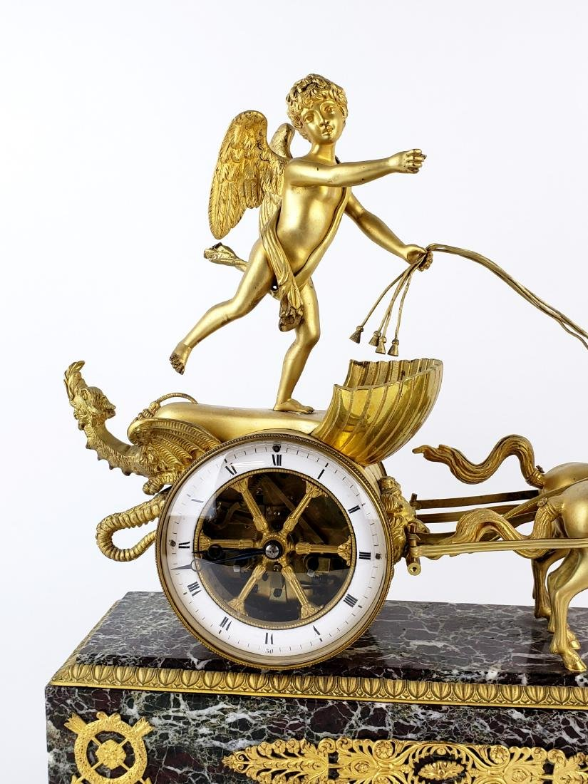 Magnificent 19th C. Bronze & Marble Clock - 2