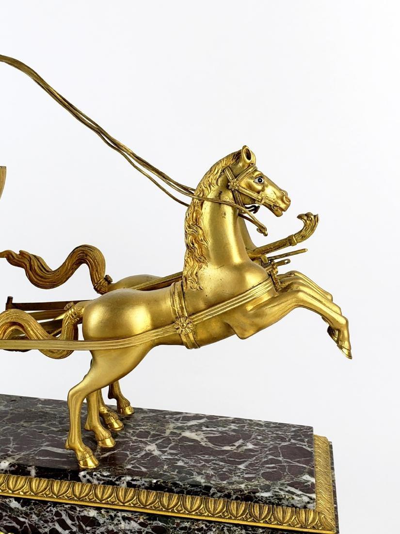 Magnificent 19th C. Bronze & Marble Clock - 3