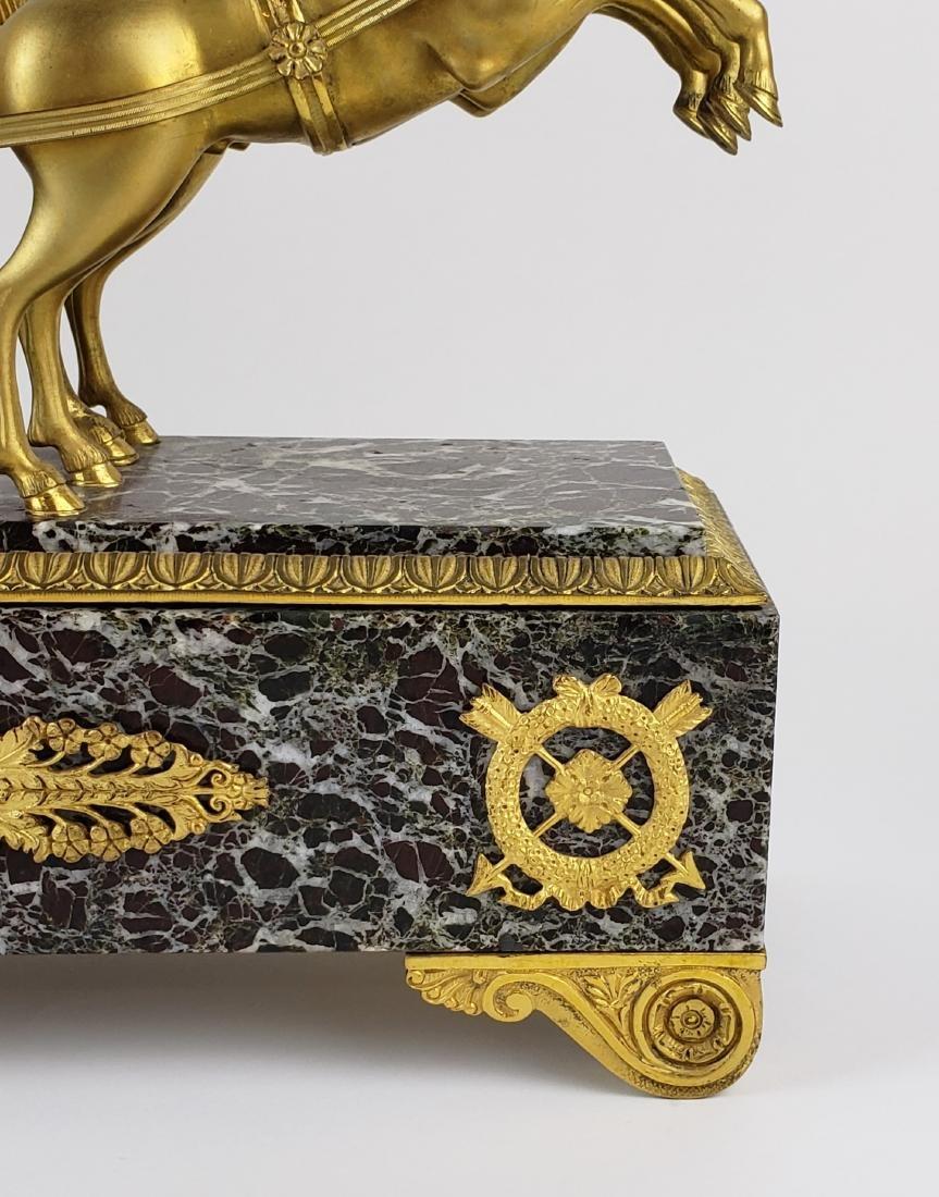 Magnificent 19th C. Bronze & Marble Clock - 4