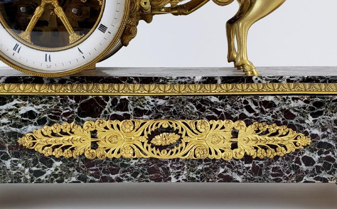 Magnificent 19th C. Bronze & Marble Clock - 5
