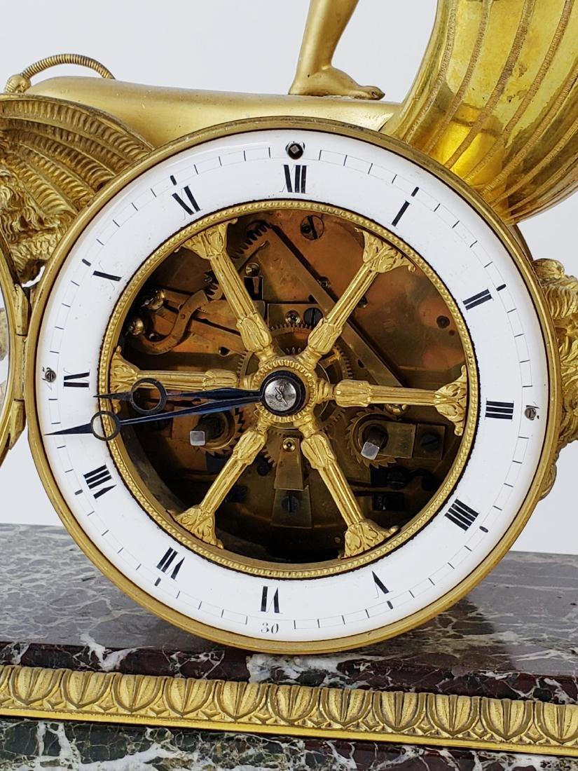 Magnificent 19th C. Bronze & Marble Clock - 6