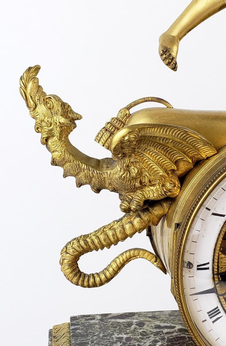 Magnificent 19th C. Bronze & Marble Clock - 7